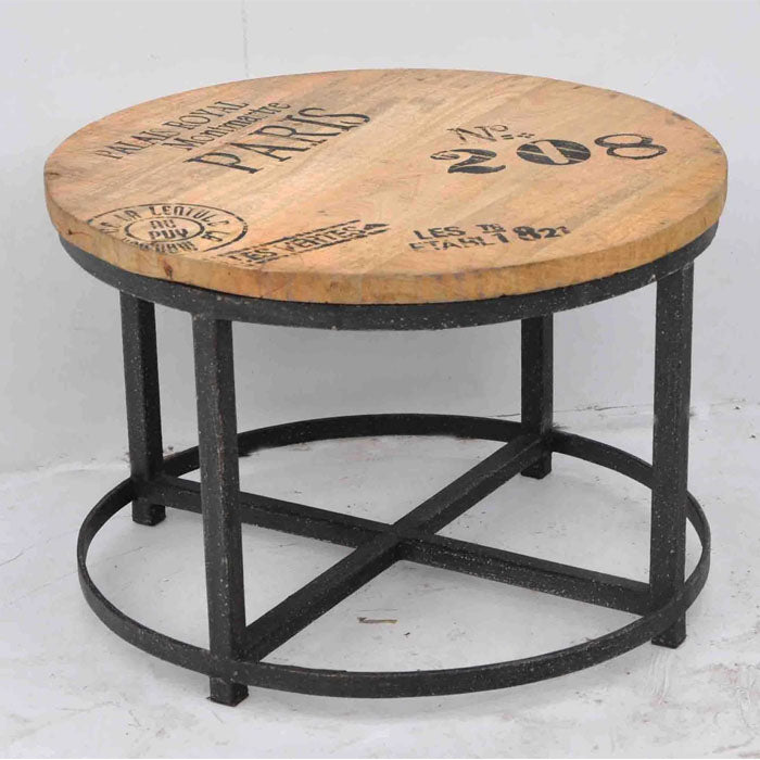 No 208 Hardwood Round Coffee Table - Notbrand