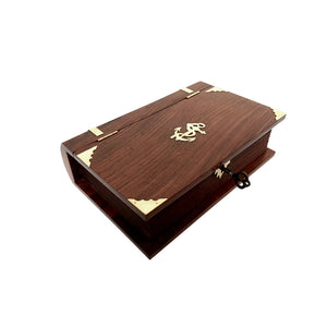 Nautical Book Box with Lock & Key - 210mm - Notbrand