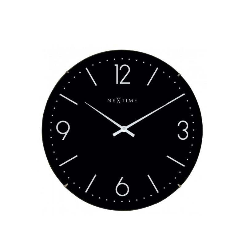 NeXtime Basic Dome Wall Clock - Black - Notbrand