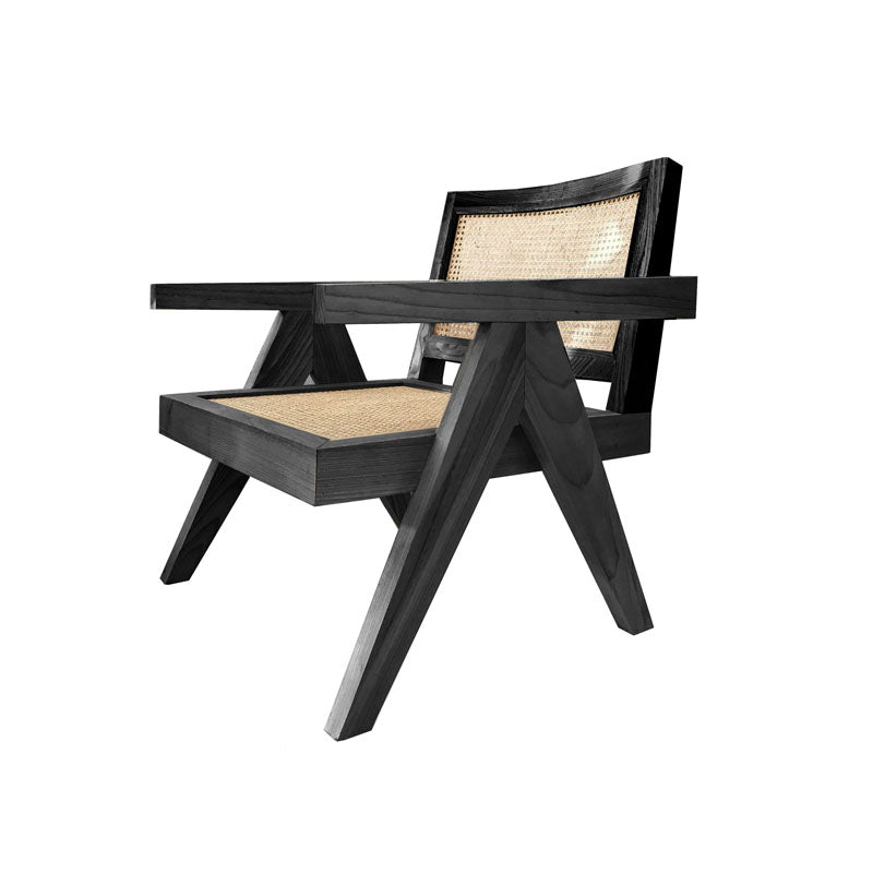 Normann Black Rattan Occasional Chair - Notbrand