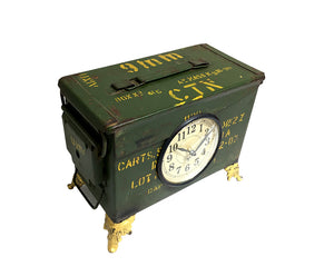 Old Military Tool Box Table Clock - Notbrand