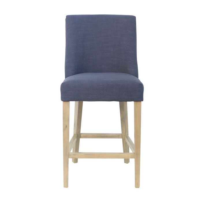 Ophelia Chrome Ring Barstool Navy Blue - Notbrand