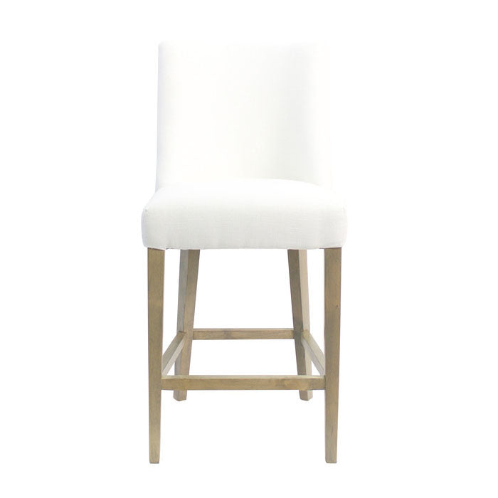 Ophelia Chrome Ring Barstool White - Notbrand