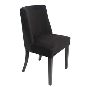 Ophelia Chrome Ring Dining Chair Black Velvet - Notbrand