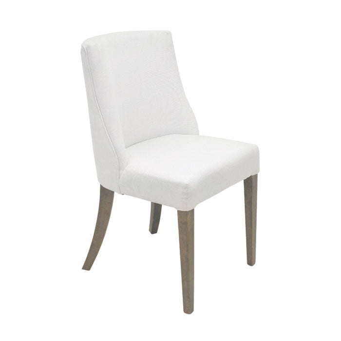 Ophelia Chrome Ring Dining Chair White