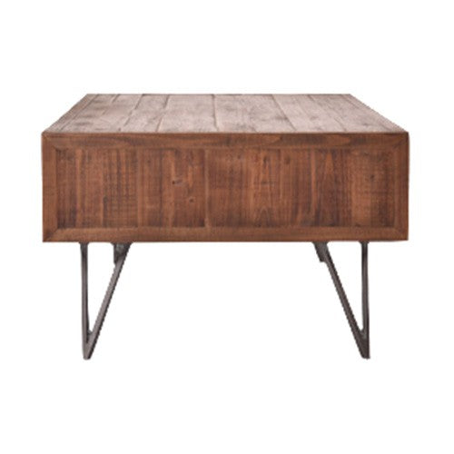 Pharmacy Drawer Reclaimed Timber Coffee Table 130cm - Notbrand