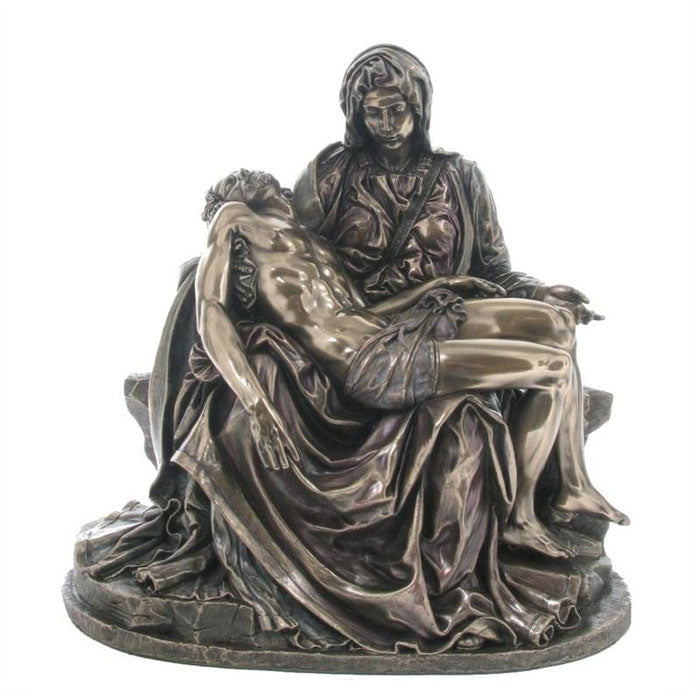 Pieta By Michelangelo Bronze Figurine