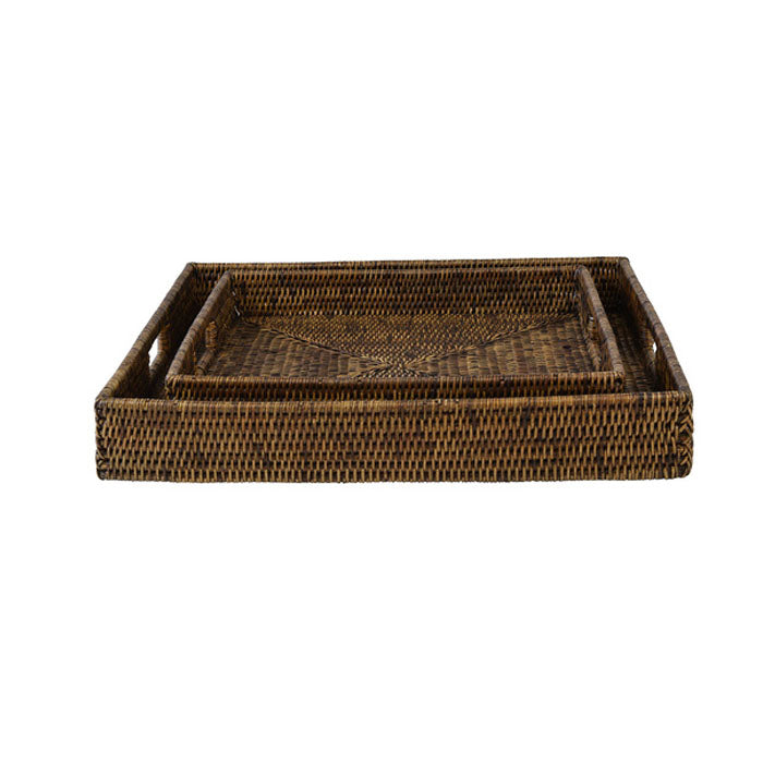 Plantation Rattan Tray Square Range