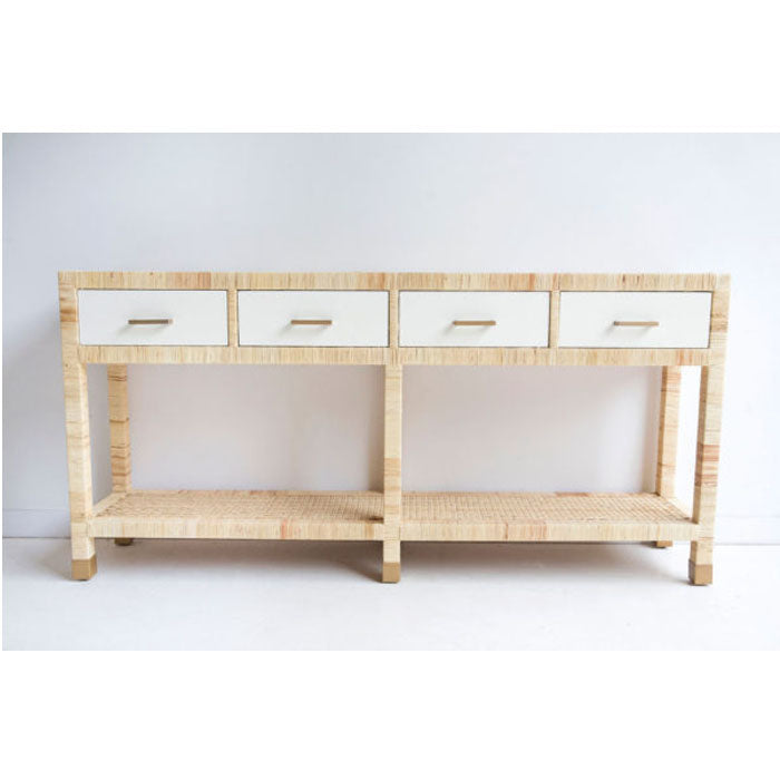 Palms Four Drawer Console Table