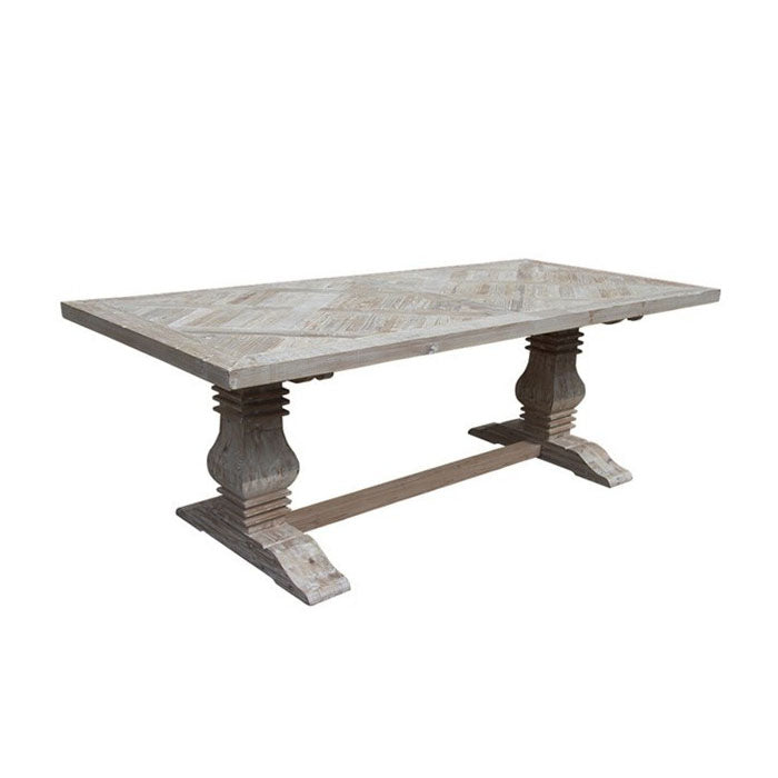 Parquet Dining Table Queen Reclaimed Pine - Notbrand