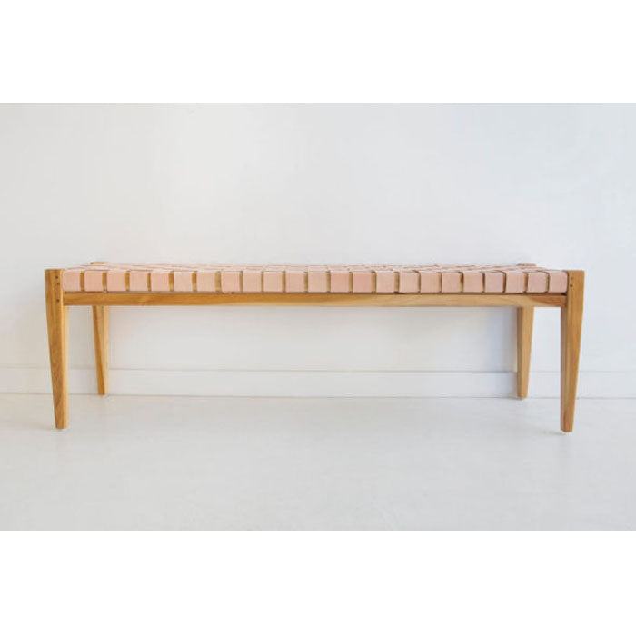 Norwood Leather Strap Bench / Bed End - Notbrand