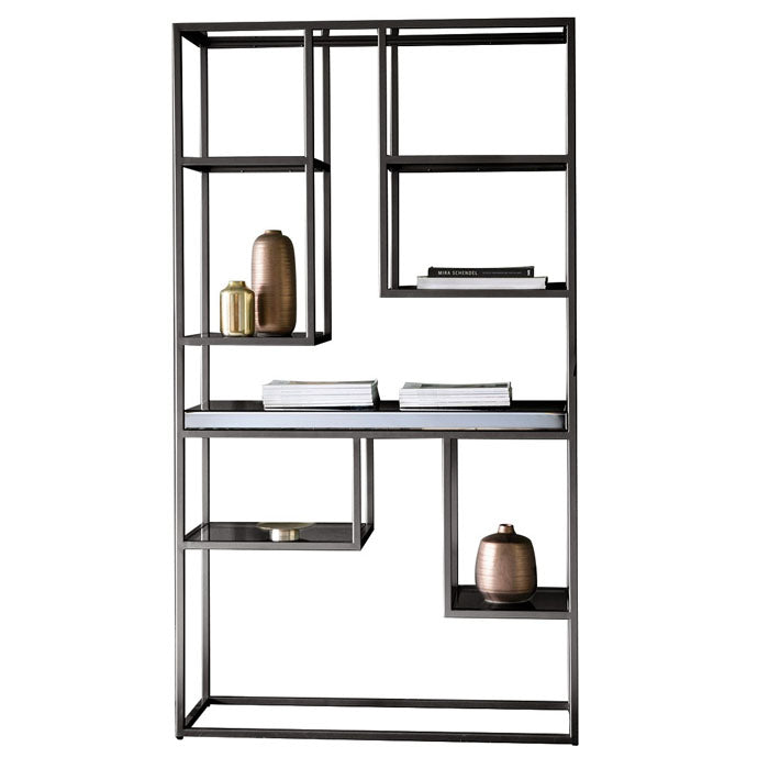 Leroy Open Display Shelving Unit Black - Notbrand