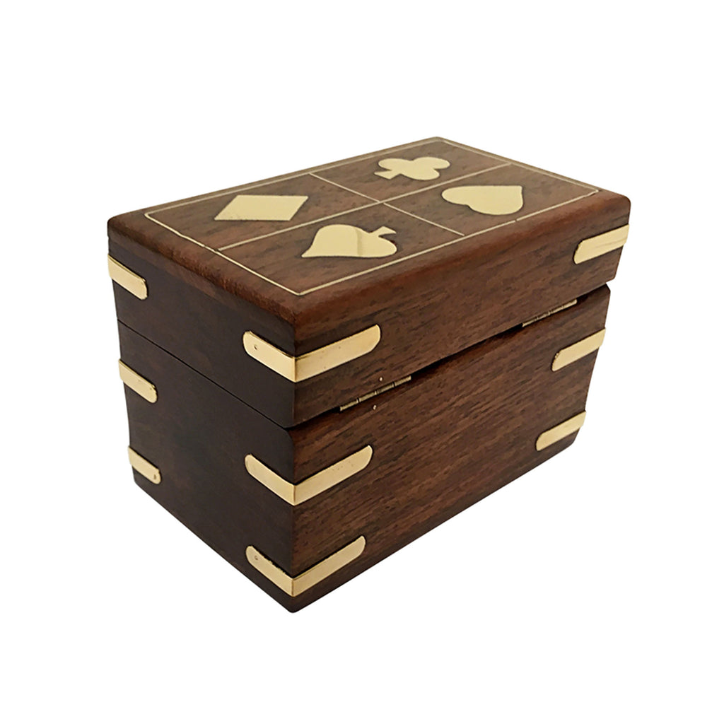 Set of Playing Cards & Wooden Chest - Notbrand