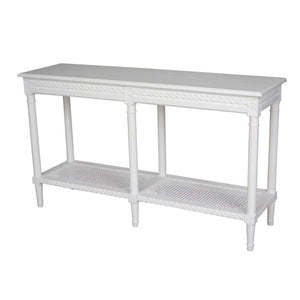 Polo Long Console Table White