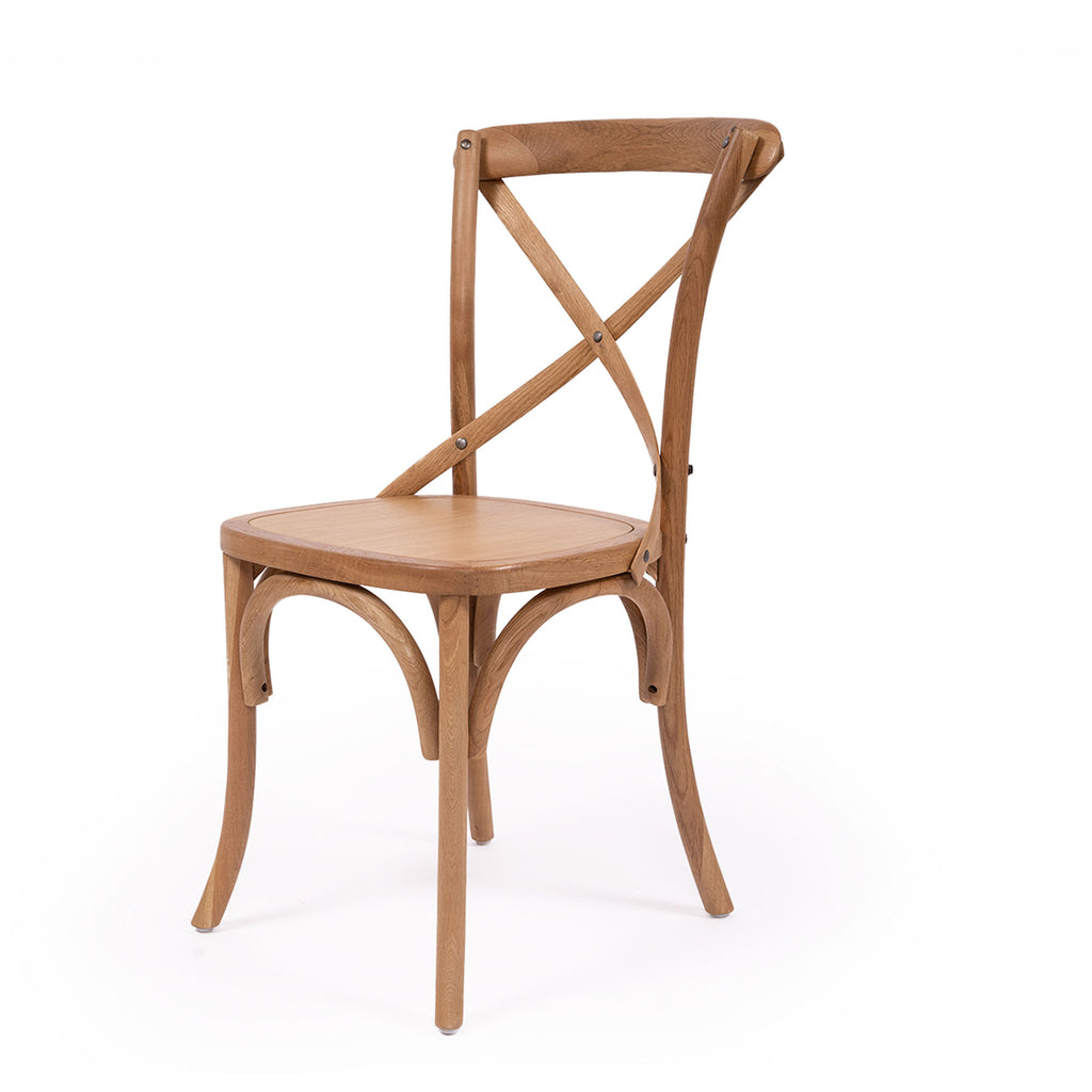 Provincial Cross Back Chair - Natural Oak - Notbrand