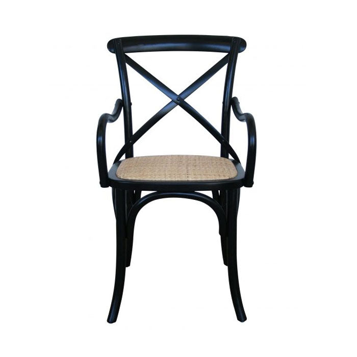 Carver Cross Back Armchair – Black - Notbrand