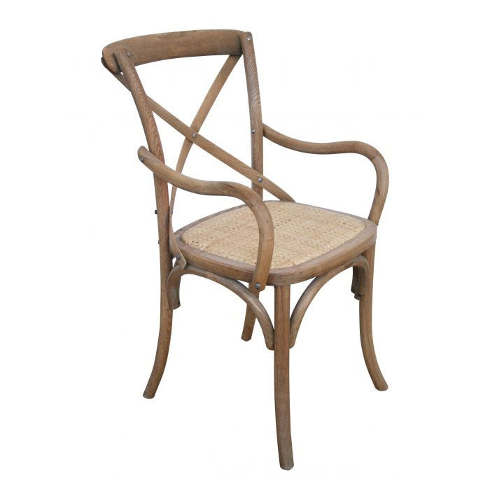 Carver Cross Back Armchair – Natural Oak - Notbrand