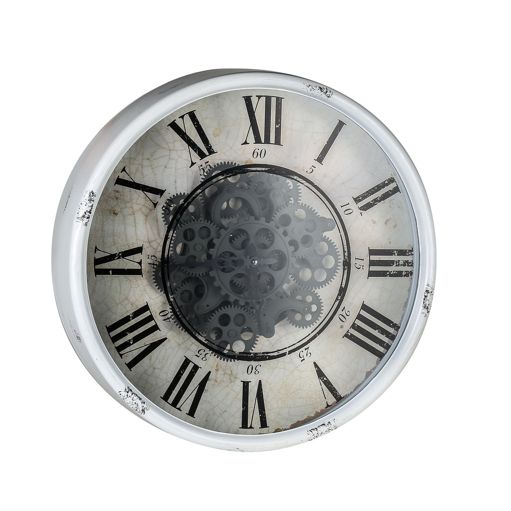 Round Mirror Wall Clock Moving 3d Mechanism - Notbrand
