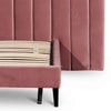 Odorata Queen Bed Frame - Blush Peach Velvet - Notbrand
