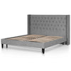 Yarrow Queen Bed Frame - Flint Grey - Notbrand