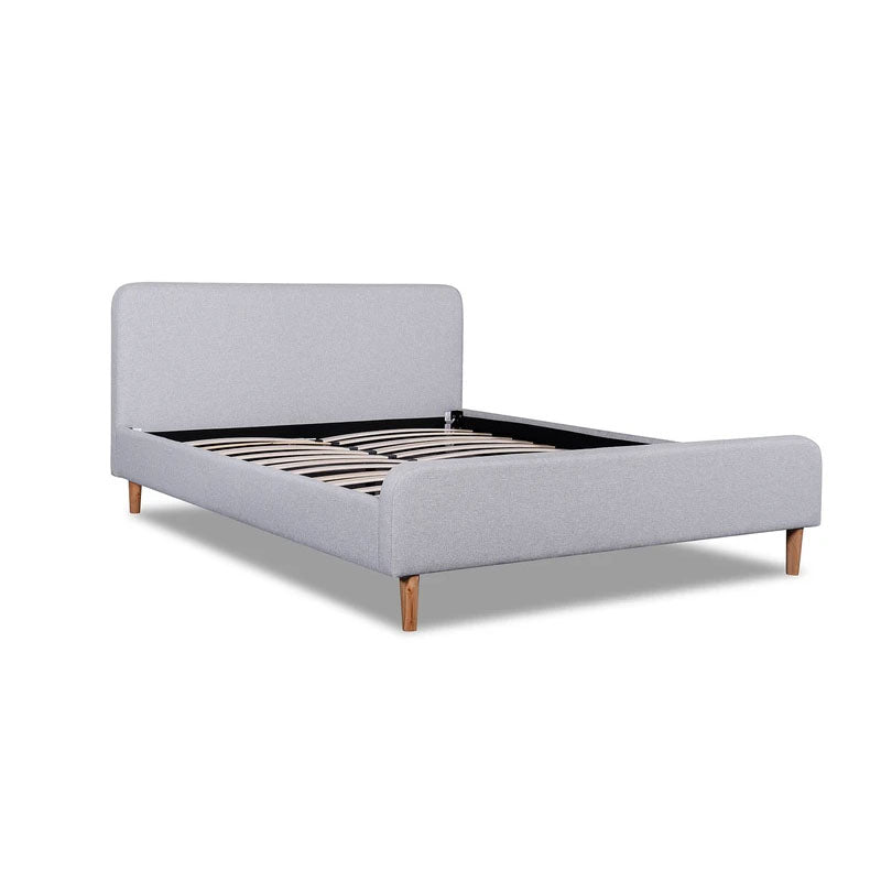 Guarma Rhino Grey Fabric Queen Bed Frame - Notbrand