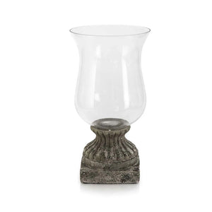 Black Ceramic Hurricane Lamp with Stand - Notbrand