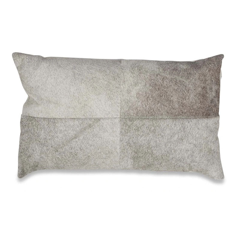Rectangular Block Cowhide Cushion - Grey - Notbrand