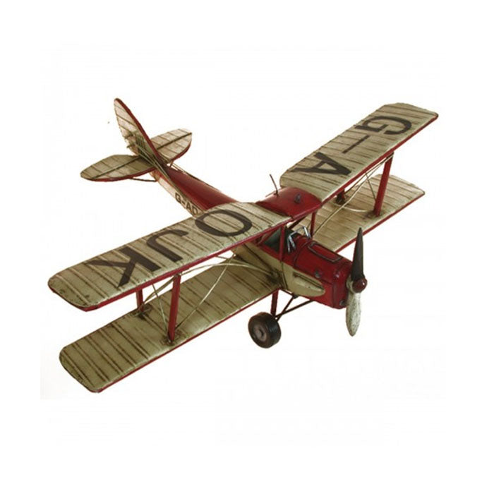 Red and White Tiger Moth Plane Ornament - Notbrand