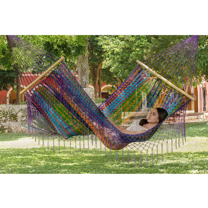 Colorina Resort Mexican Hammock with Fringe - Notbrand