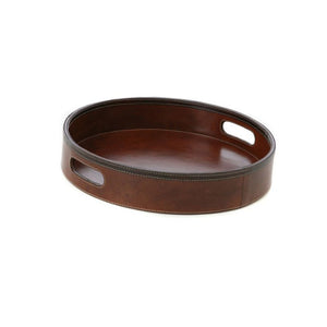 Fergus Leather Round Tray