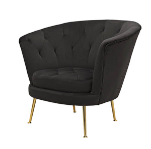 Sophia Black Polyester Fabric Chair - Notbrand