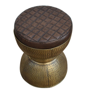 Di Maggio Copper Look Drum Stool - Notbrand
