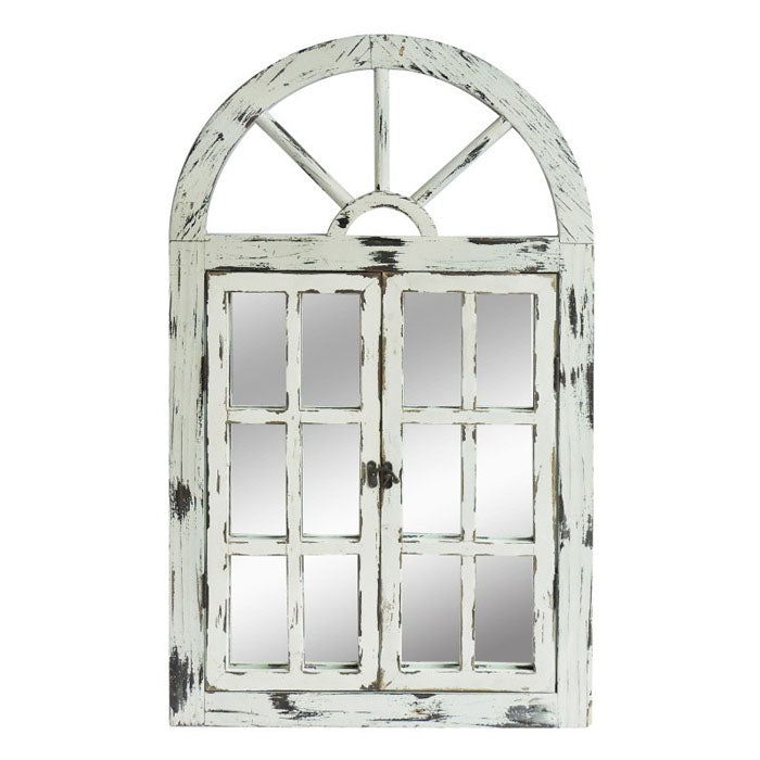 Scarlett Window Mirror Antique White - Notbrand