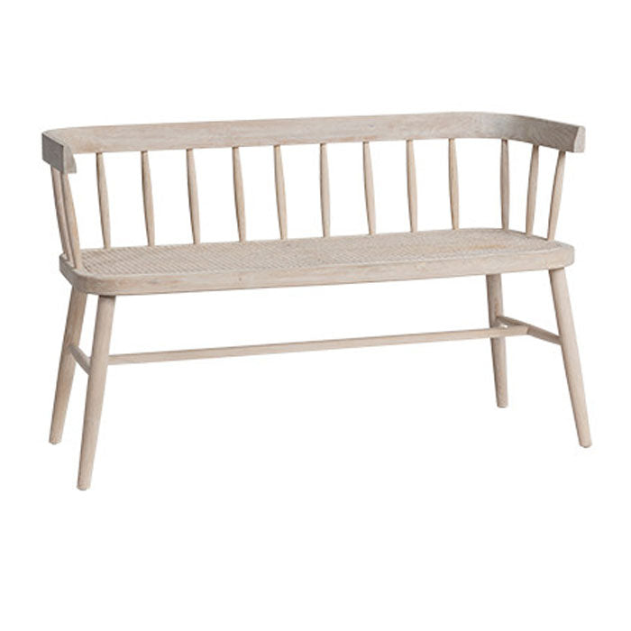 Selby Cane Bench Seat - Notbrand