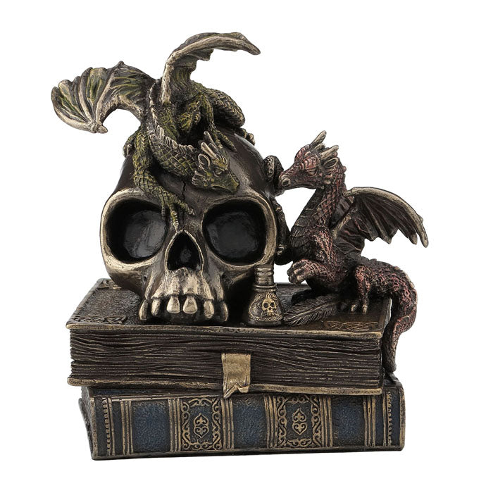 Steampunk - Dragonlings On Skull And Books