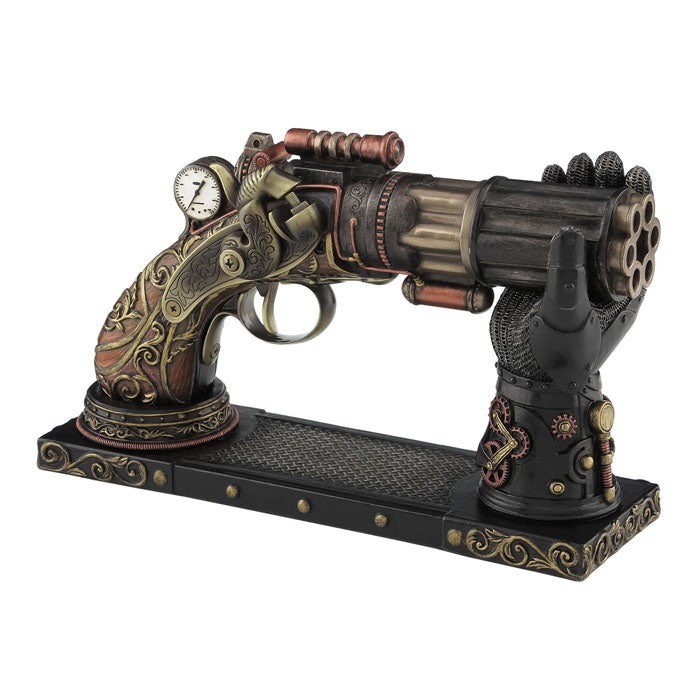 Steampunk - Six Barrel Pistol With Gauntlet