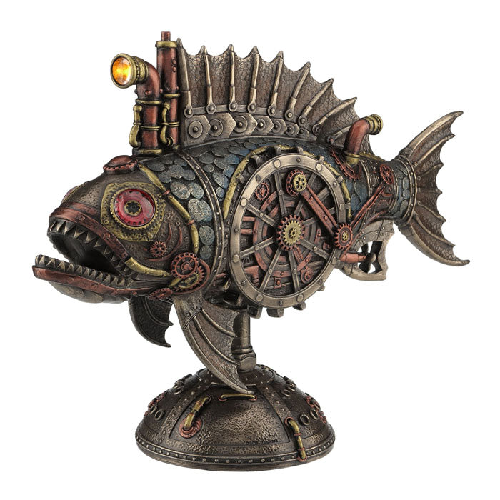 Steampunk - Submarine Fish With Led Headlight - Notbrand