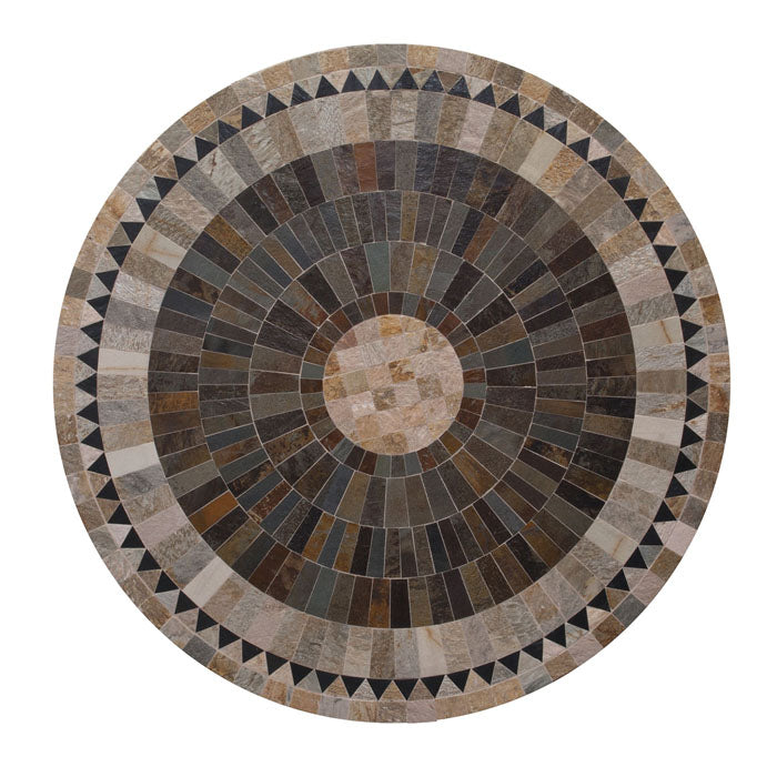 Sunray Round Slate Stone Table