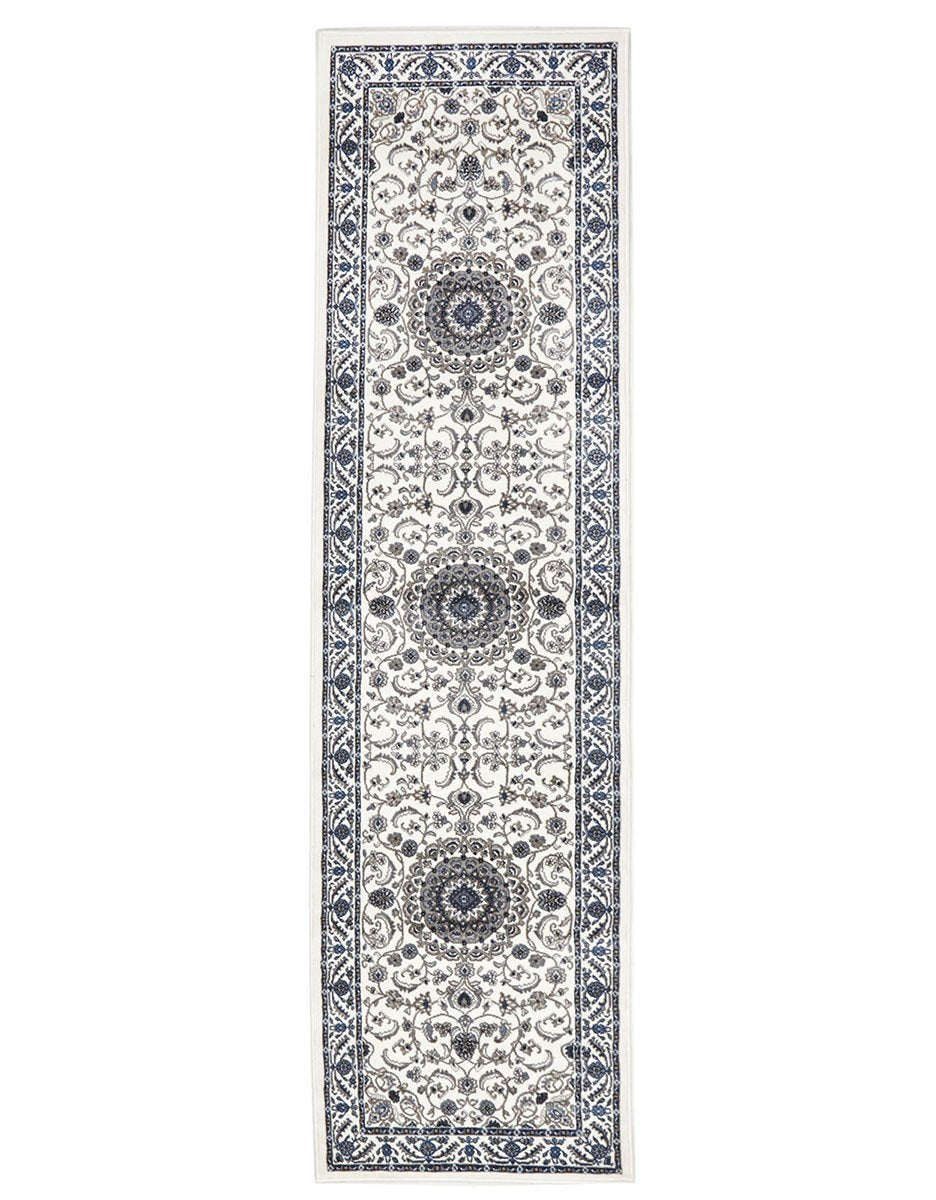 Sydney Medallion Runner White with White Border Runner Rug - Notbrand