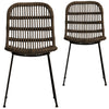 Elisha Rattan Dining Chair (Set of 2) - Notbrand