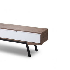 Elio Scandinavian TV Entertainment Unit - Walnut - Notbrand