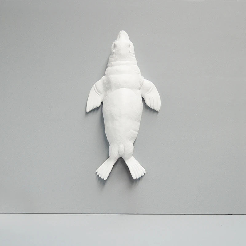 White Seal Wall Hanging Figurine - Notbrand