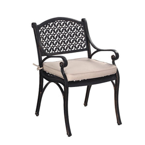 Set of 2 Cast Aluminium Chaltan Chair with Cushion - Notbrand