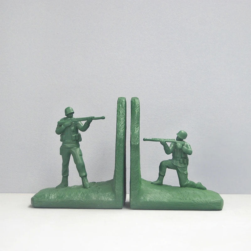 Set of 2 Soldier Bookends - Green - Notbrand
