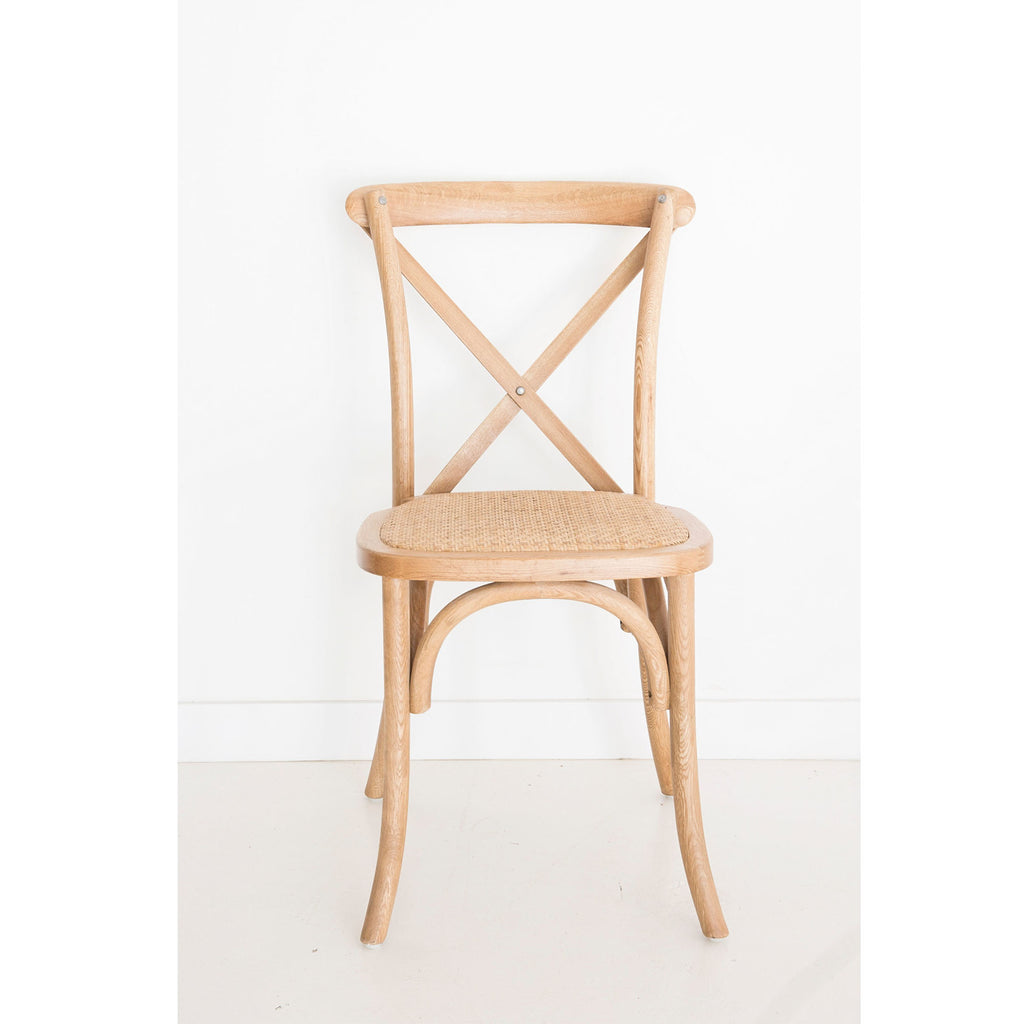 Stackable Provincial Cross Back Chair – Natural Oak Frame - Notbrand