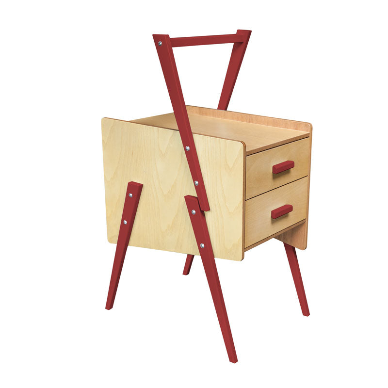 Red Swing End Table - Notbrand