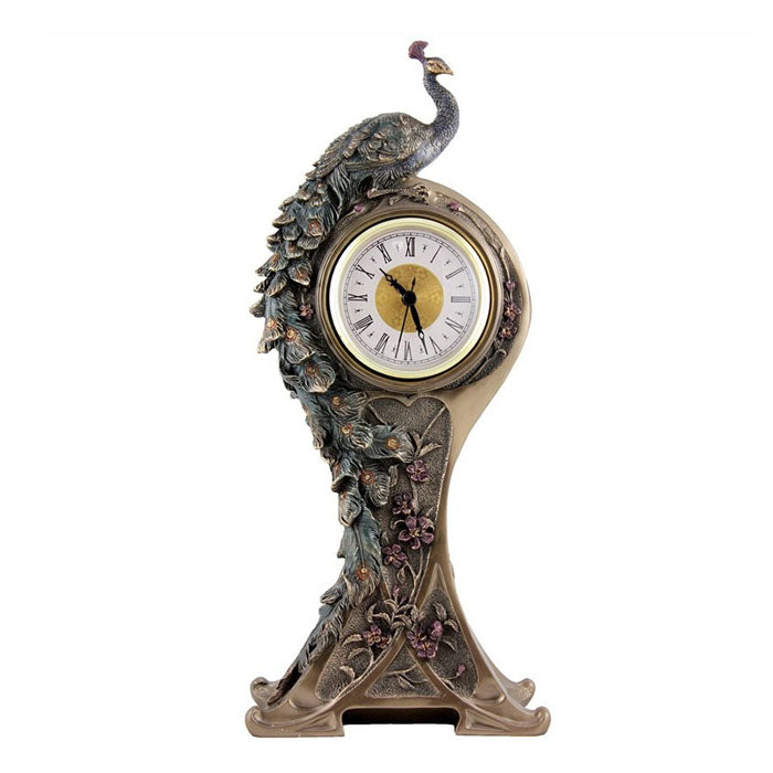 Peacock Table Clock