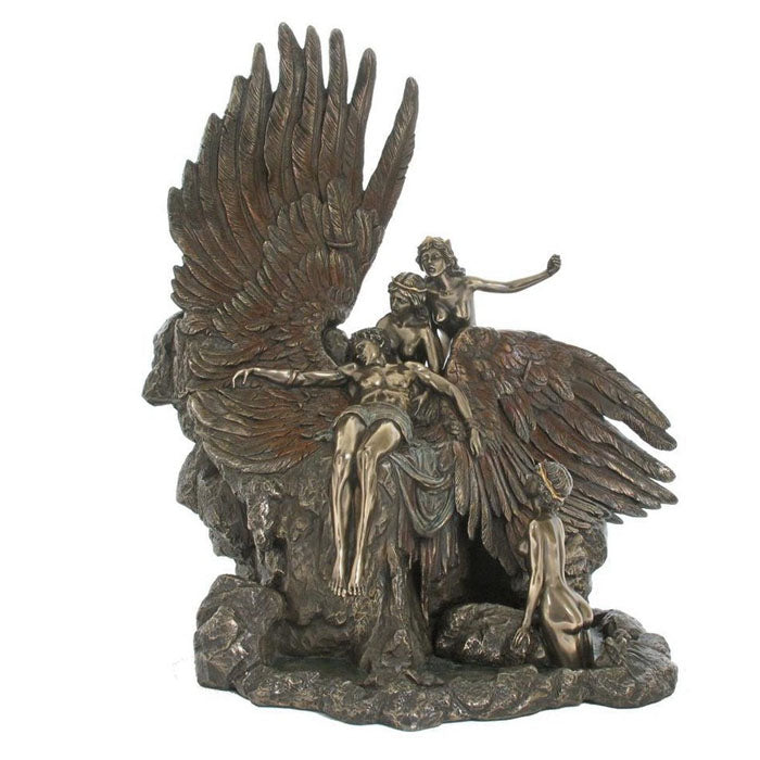"""The Lament For Icarus"" By Herbert James Draper Bronze Figurine"