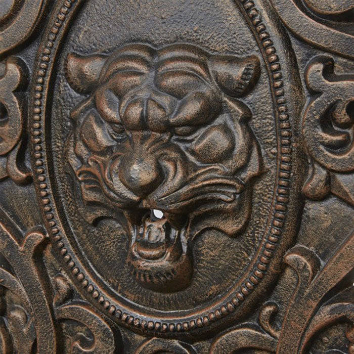 Tiger Face Cast Iron Wall Fountain
