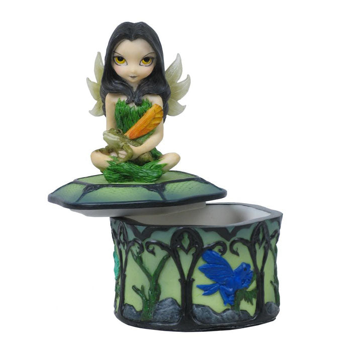 Trinket Box - Fairy Frog Friends